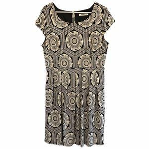 Ricki's black & white lined dress size 14